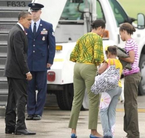 Michelle at plane