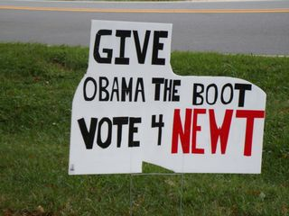 Newt GIVE OBAMA THE BOOT