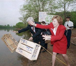 Newt tea into river 1994