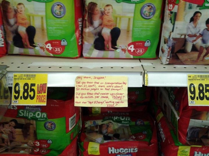 Grocery sticky huggies