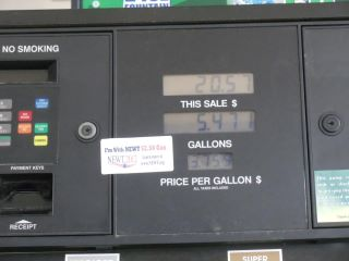 Newt sticker on gas pump