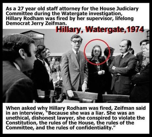 Hillary fired at watergate